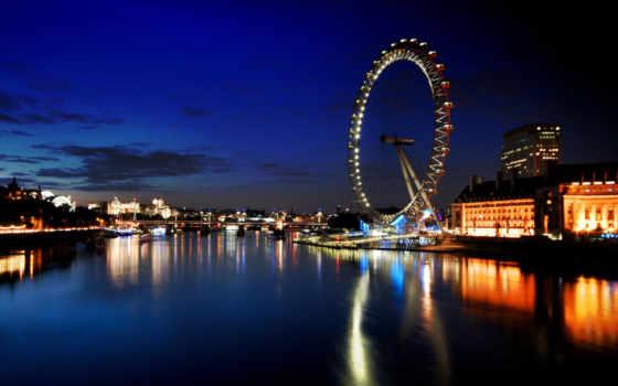 обозрения, london, колесо, глаз,