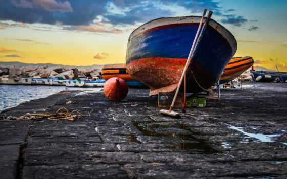 веревка, разное, девушка, связанная, буй, лодки, pier, italian, napoli,