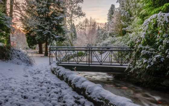 снег, goodfon, initial, landscapes,
