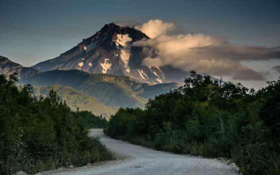 дорога, камчатка, природа, rook