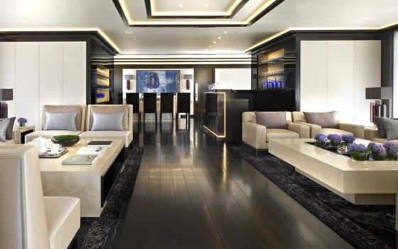 яхта, интерьер, luxury