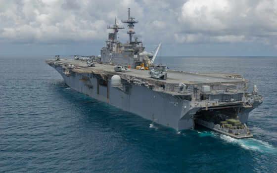 корабль, uss, lhd, посадка, essex, палуба, ocean, вертолеты,