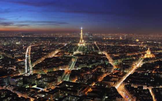 париж, огни, городов, фотографий, gif, заставки, франция, парижа, ночных, эйфелева,
