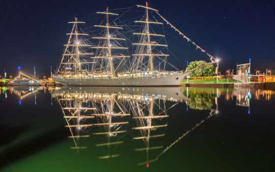 tall, корабли, корабль, ночь, sailboats, море, похожие, картинка, ships,