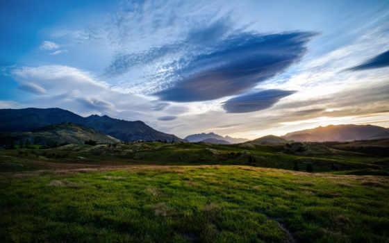 новая, zealand, природа, queenstown, горы, картинка, долина, landscape, облако, oblaka, небо,