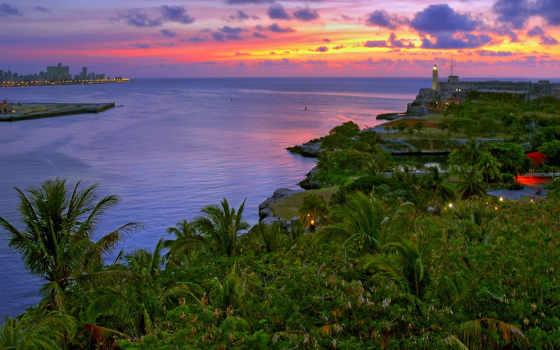 куба, priroda, гавана, побережье, океан, тропики,