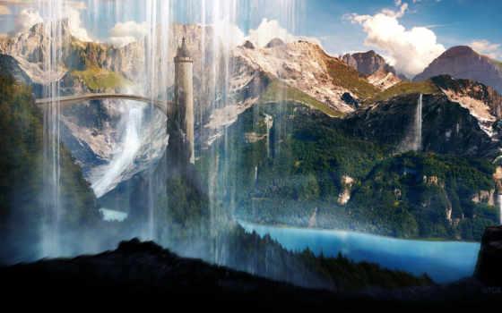 scenery, башня, город