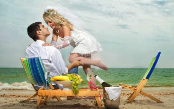 девушка, парень, море, невеста, пляж, fata, ухоженность, стулья, улыбка,