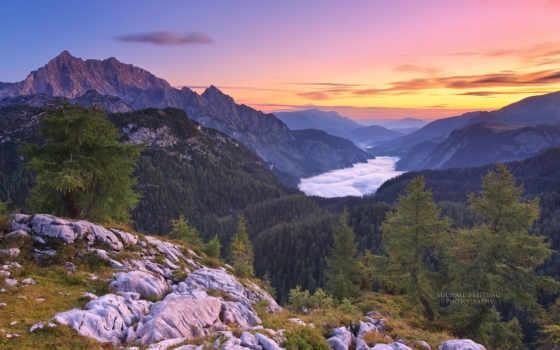 berchtesgaden, ноутбук, код, гора, desktop, national,