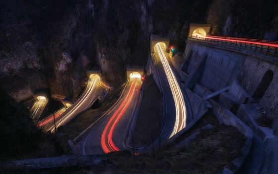 дорога, гора, город, highway, architecture, мост, lapse, дорогой, traffic, пустыня, car
