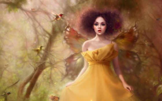 butterfly, girl