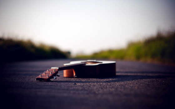 гитара на дороге Фон № 46763 разрешение 1920x1200