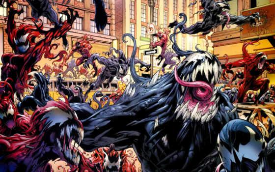 venom, симбиот, симбиоты, паук, мужчина, eddie, marvel, человеком,