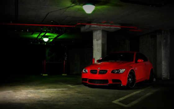 bmw, красный
