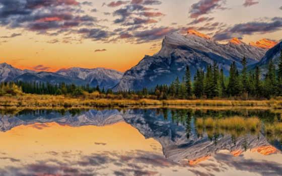 mount, альберта, rundle, art, озеро, pine, pinterest, фото, banff,