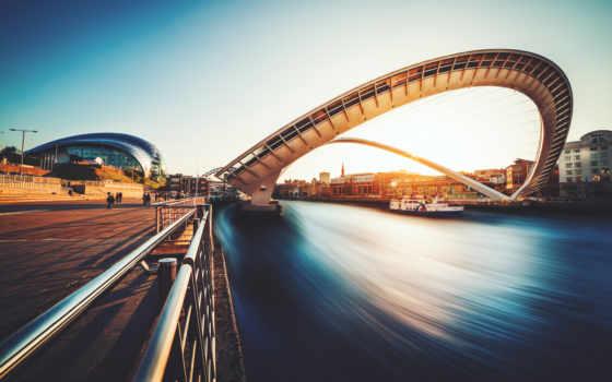 мост, gateshead, millennium