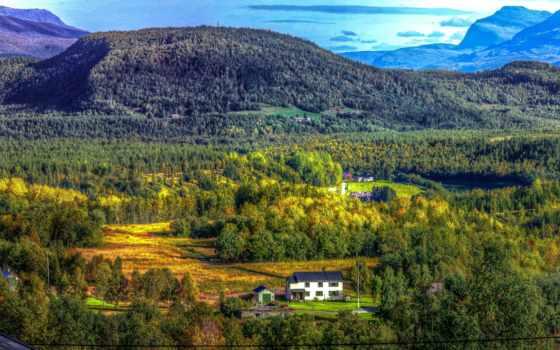 пейзажи -, город, norwegian, горы, slaytyerim, slaytları, bardufoss,