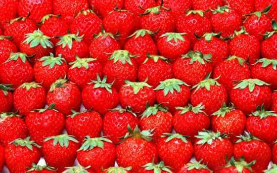 красивые, клубничные, природа, клубники, ягоды, еда, клубника,