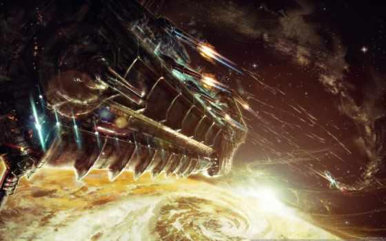 bulletstorm, корабль, cosmos, art, fantastic, concept, cosmic,