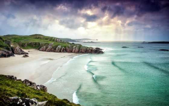 шотландия, scotia, побережье, landscape, горы, код, море,