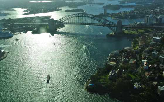 город, австралия, широкоформатные, фотографий, огни, sydney, ночь, anywalls, рисунки, possible,