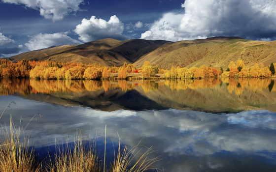 отражение, clouds, озеро, you,