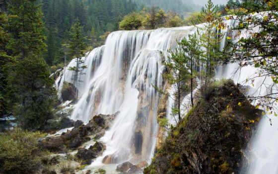 водопад, falls, water, ас, мох, сайт
