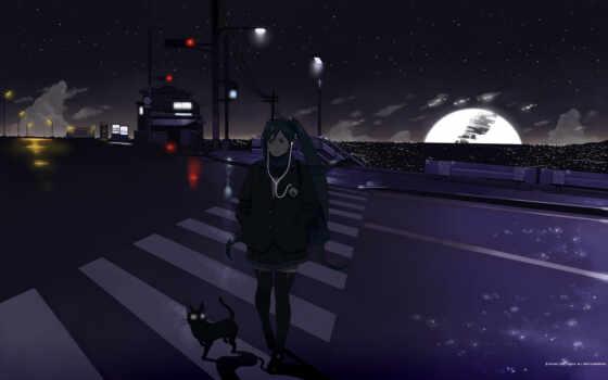 free, черный, картинку, save, anime, miku, hatsune, girl, кот, picture, episode, выберите, кнопкой, правой, мыши, скачивания,