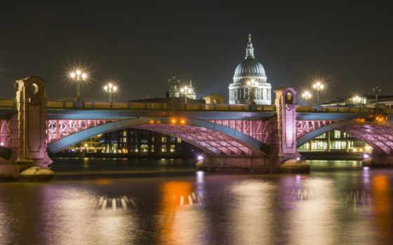 london, дома, мост
