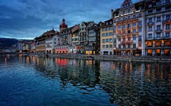 swiss, люцерн, lucerne, швейцария, reuss, royce, река,