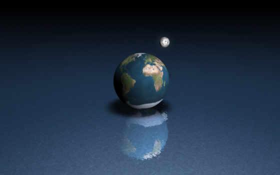 луна, land, земли, water, rendering, луны, изменить, поверхности,