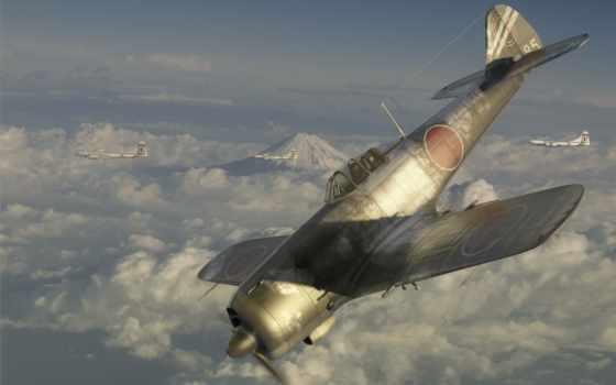 nakajima, hayate, frank, was, истребитель, армия, japanese, самолеты,