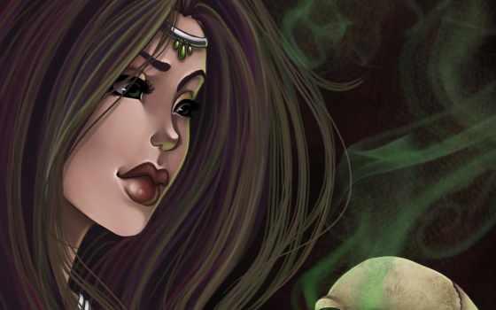 глаза, девушка, волосы, eyes, harpyqueen, lips, art, череп,