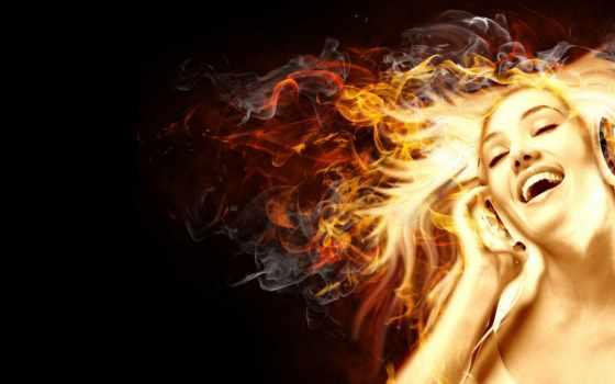 девушка, вконтакте, аватар, club, рай, огненная, волосами, devushki, наушниках, дубровно, огненными,