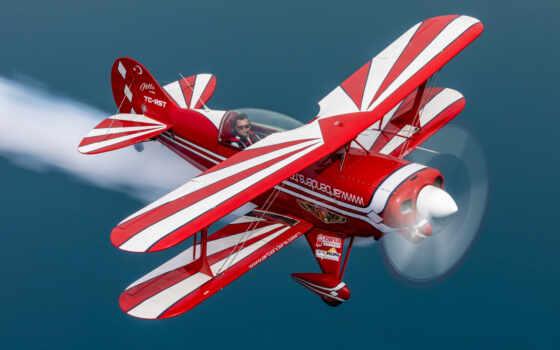 питт, картинка, biplane, полет, истребитель