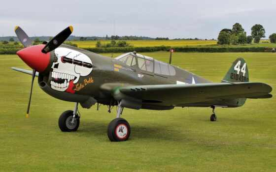 curtiss, warhawk, airplane, самолёт, kittyhawk, black