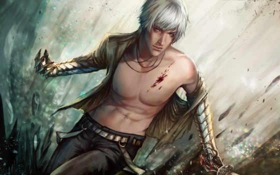 меч, парень