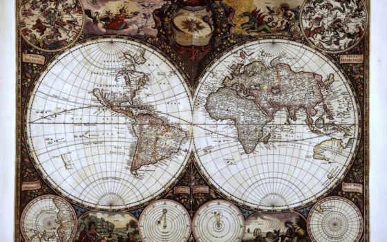карта, мира, карты