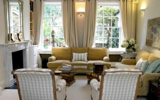interer, диван, okno