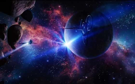 звезды, планеты, космос, нов, land, впервые, низко, расположенные, горизонтом, со,