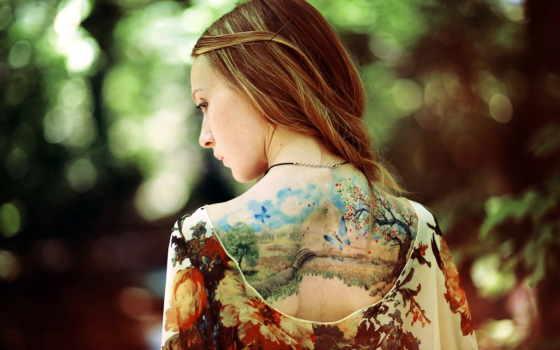 татуировки, татуировка, тату, девушек, татуировок,