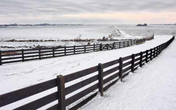 снег, забор, фон, гора, products, лес, скалистый, you, winter,