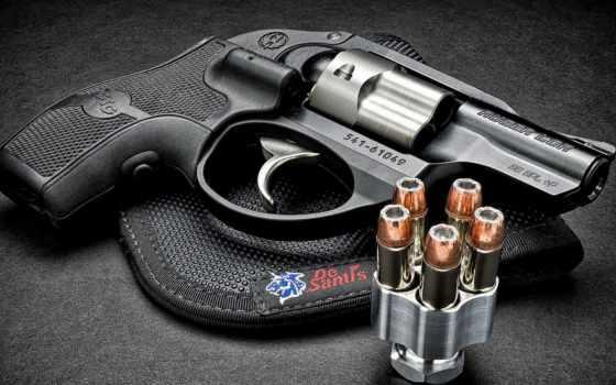 revolver, патроны, пистолет