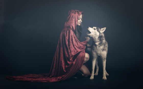 rotkäppchen, волк, der, und, teil, fotografie, böse, making, stephan,