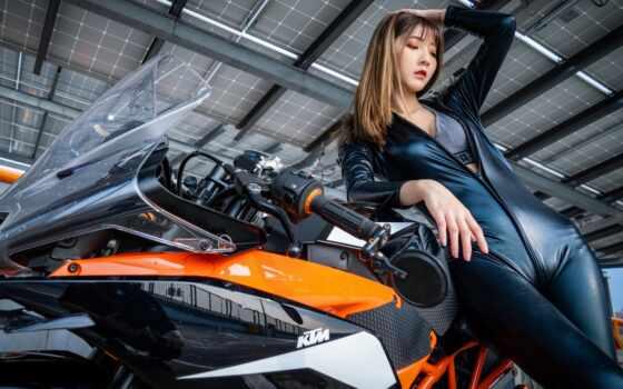 поза, мотоцикл, девушка, латекс, motocicle, bike, asi-tico