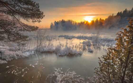 winter, снег, гора, landscape, облако, дерево, late, природа, идея, лес