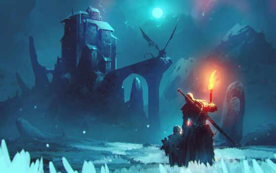 art, fantasy, дракон, аватар, арта, снег, artwork, winter, artist, late, китаянка