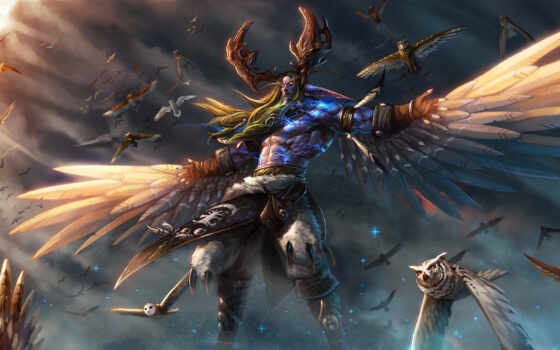 дрель, арта, warcraft, rage, малфурион, game, world, небо