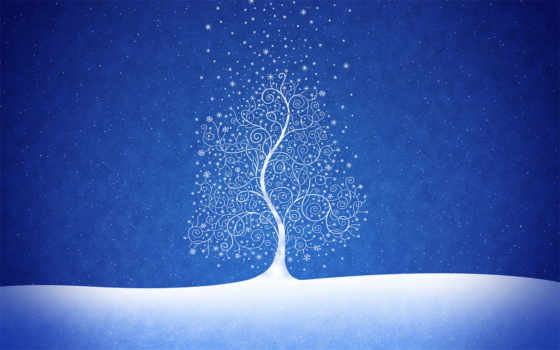 дерево, снег Фон № 16594 разрешение 1920x1200