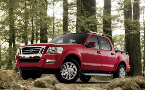 ford, explorer, sport, trac, angle, front,